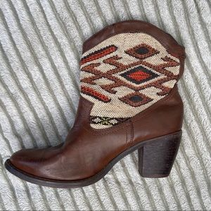 Wanted Tejas Brown Western Ankle Boot Wome…